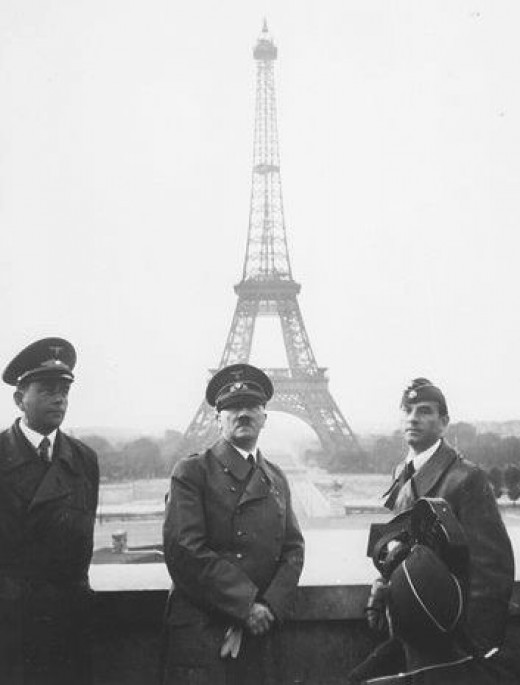 In Paris, France after occupation in 1940