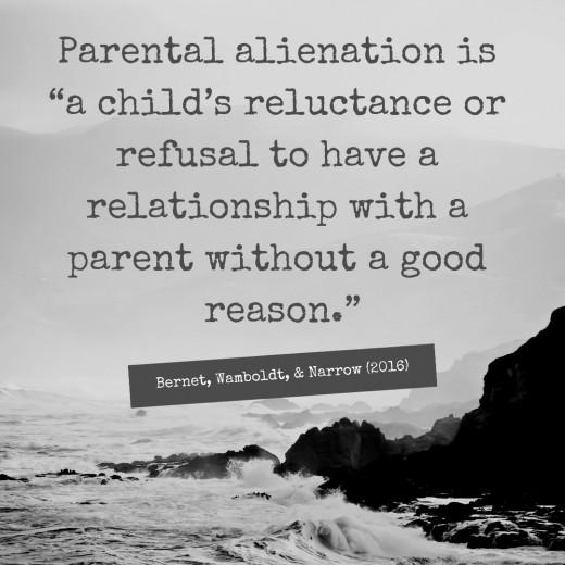 Definition of parental alienation.