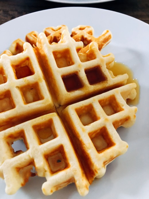 Serve the waffles with your favorite syrup, chocolate spread, or honey.