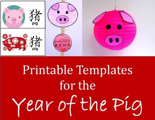 See below for the link to crafts designed specifically for Year of the Pig.