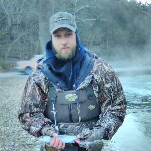 Big brother with one of his trout