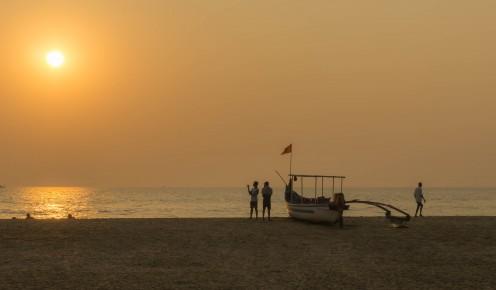 Romantic sunset on the beach at Agonda