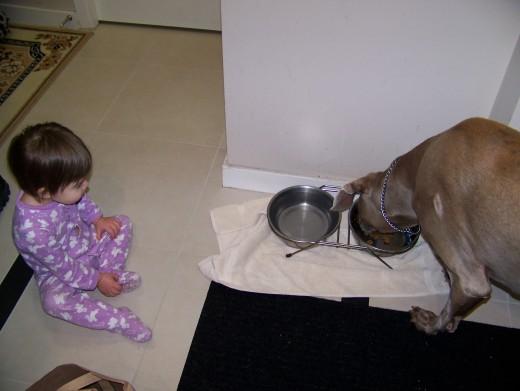 Our Daughter,Caroline, Watching Titan Eat, 2012