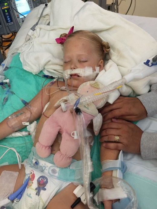 It does something to you to see your child this  way, no matter the circumstances. Ours was meningococcal meningitis and it took our beautiful 3 year old daughter's life in less than a weeks time.