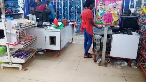 Cashiers,Mama Watoto Supermarket.
