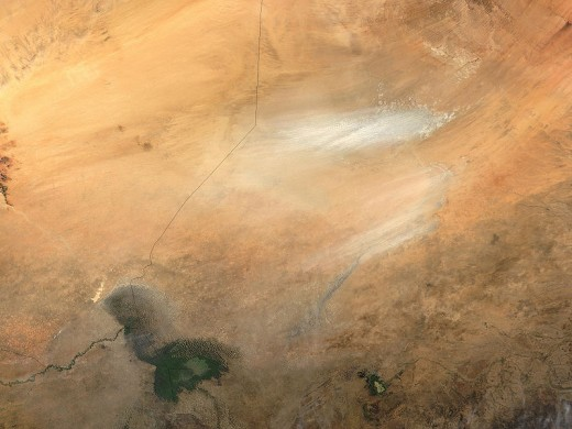 Dust storm near Lake Chad.