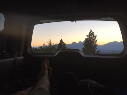 camping in the national forest offers unparalleled views