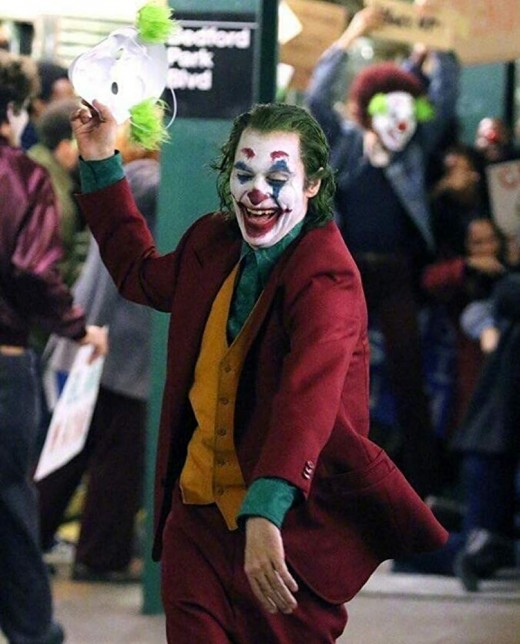 "Joaquin Phoenix as the Joker in Todd Phillips', ""Joker."""