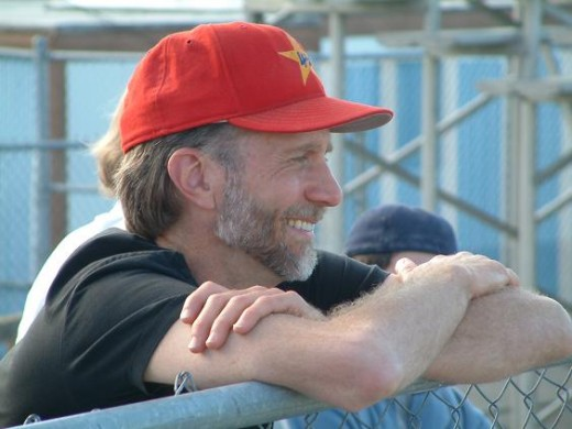 John Luther Adams in 2014 at a baseball match.
