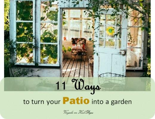 A garden patio - Landscape design idea that brings the outdoors indoor.