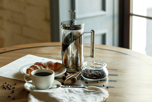 Cafe du Chateau French Press Coffee Maker.