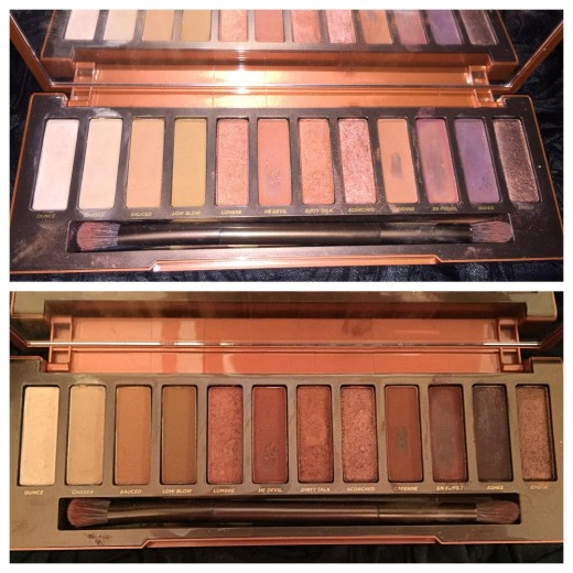 Inside the Palette - Flash (Top) & No Flash (Bottom)