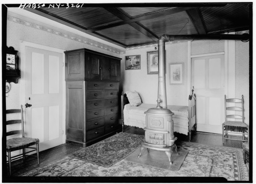 A woman's bedroom.