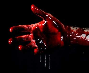 Nailed Hand showing Blood of Christ