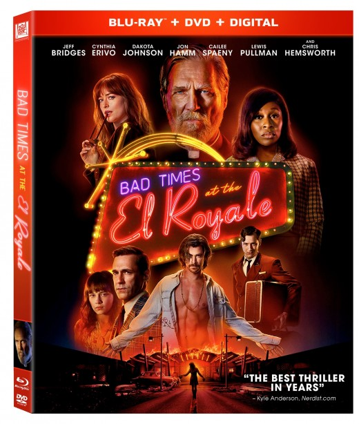 "The official cover of the DVD/Blu-ray of, ""Bad Times at the El Royale."""