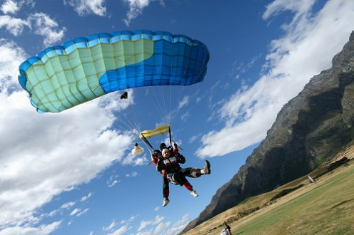 Charity skydiving can be exhilarating