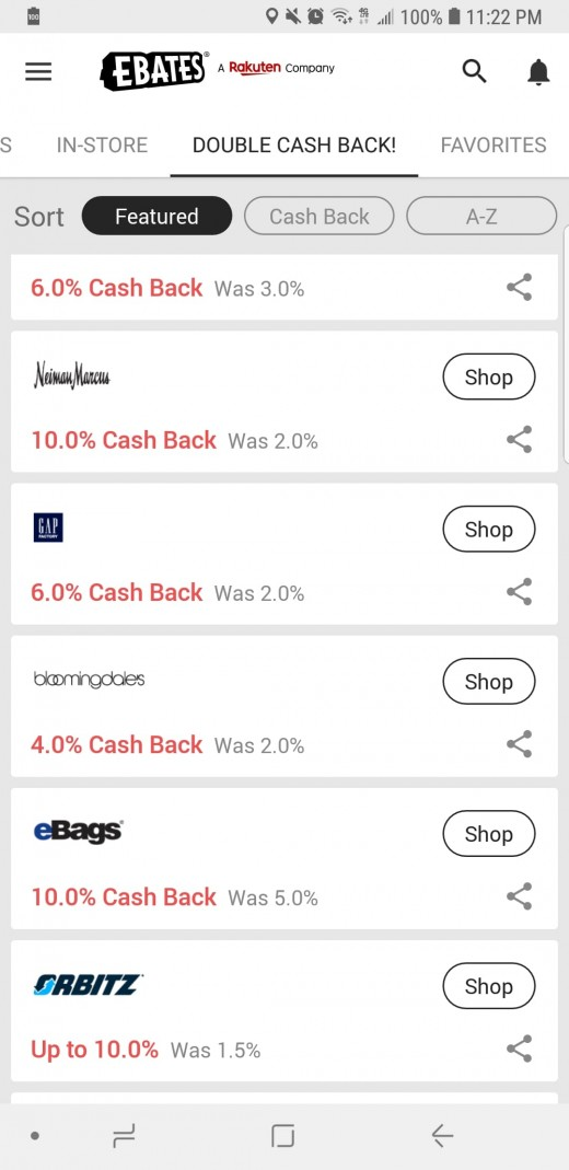 An overview of the Ebates Mobile App
