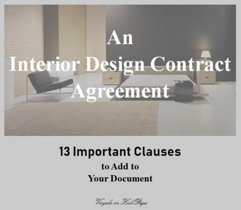 Interior Design Contract Agreements: 13 Important Clauses to Add