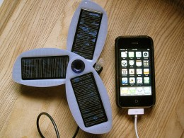 Solio solar cell phone charger.  Photo courtesy of cogdogblog at http://www.flickr.com/photos/cogdog/3583355309/ under Creative Commons Attribution License.