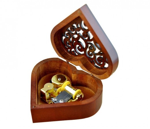 "This beautiful music box is a little wonder. It plays a melody called ""Castle in the Sky"" and it really soothes the senses. The aura it exudes is very similar to the feeling you get when you fall in love."