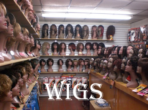 A display of a variety of wigs. Which types are your preferred choice?