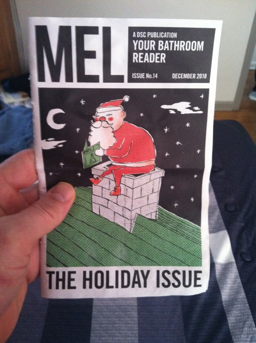 Every month features a small magazine with hilarious content as well as real issues for grooming, geared predominantly towards men.