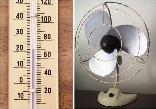 Immoderate temperatures will prevent you from sleeping. Keep an electric fan on your nightstand during hot weather.