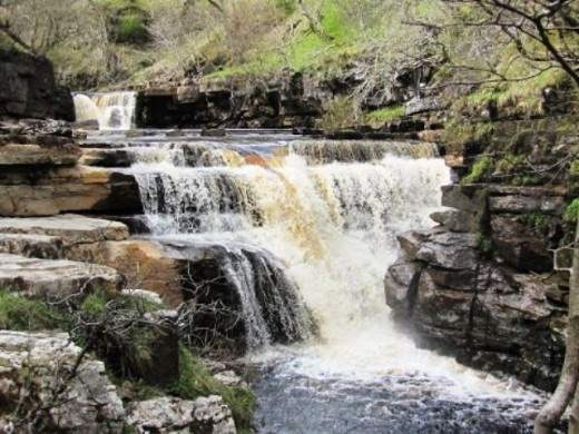 Kisdon Force near Keld in Upper Swaledale, where the track you follow turns towards Crackpot Hall - neither a 'hall' nor connected with the mentally ill