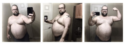Ugghh. These pics are so embarrassing! I can't believe I let myself get this fat.