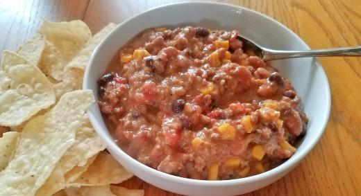 Cheesy Hamburger Taco Soup