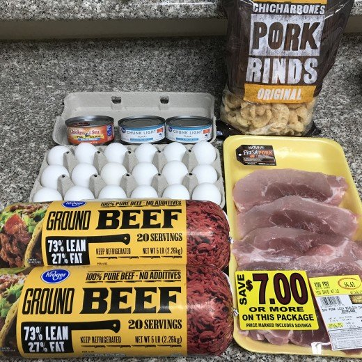 Grocery store haul for my first week of the Carnivore Diet