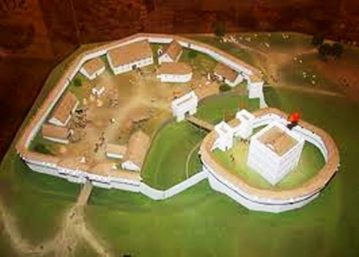 Model of Shrewsbury Castle as re-built in stone - the older timber castles built after the invasion in 1066 were prone to rot and/or burning