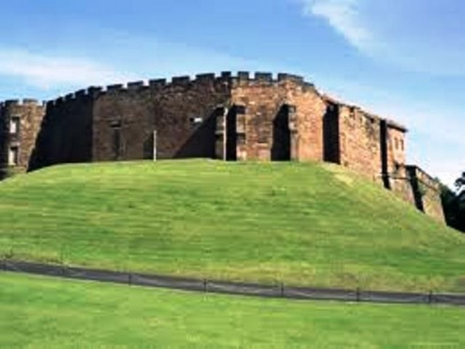 Chester Castle, shows Hugh's eye for a defensive position (the moat was filled in at a much later date