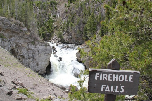 Firehole Falls @ Yellowstone National Park