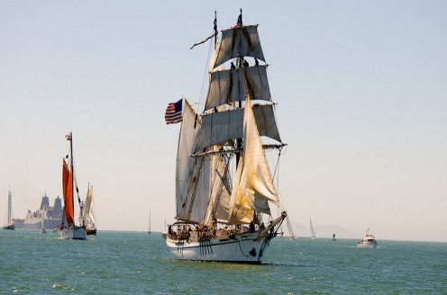 Exploration by sea is commemorated by the annual Parade of Tall Ships.