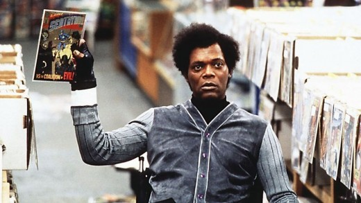 Mr. Glass, researching his villainy.