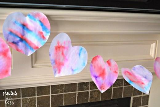 Valentine's Tie Dye Heart Banner
