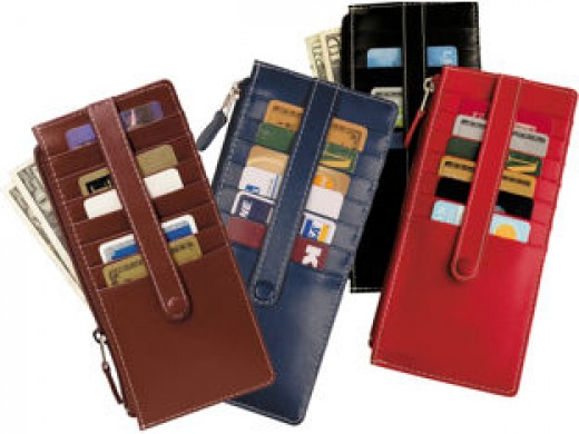 Credit card wallets come in virtually every style and color.