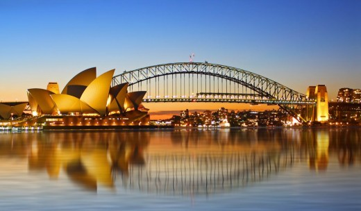 Sydney Harbour Bridge - Dorman-Long won the contract to build the bridge in order to keep the works going, their employees in work even though they made a loss. Construction began 1923 and the bridge was opened 1932.