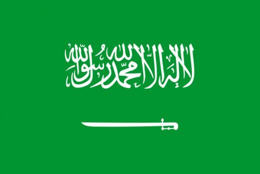 Saudi flag.