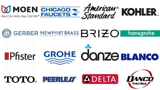 Logos Of Major Faucet Brands