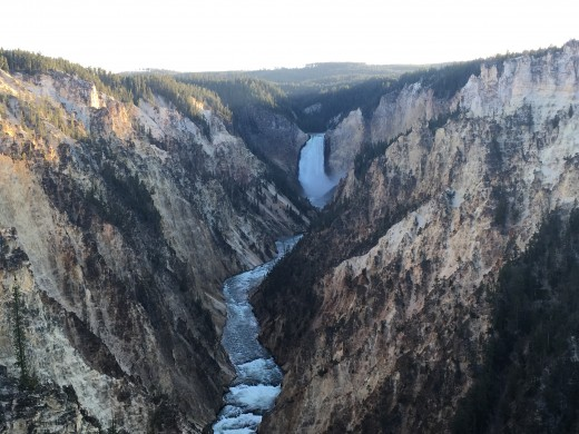 Upper Falls and Yellowstone River in the Canyon