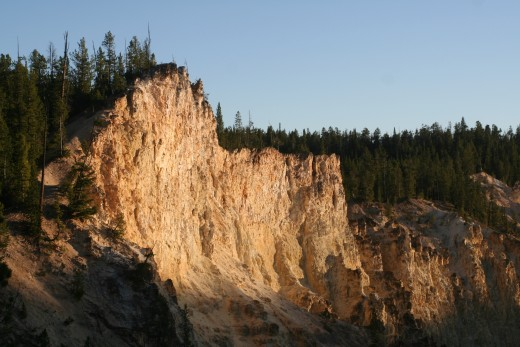 Canyon wall in evening sunlight