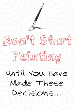 Questions to Ask Yourself Before Starting a Painting