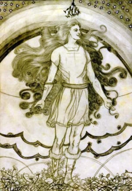 The young god Baldur tells the assembled gods of his dream before Blind Hoder lets loose his mistletoe arrow