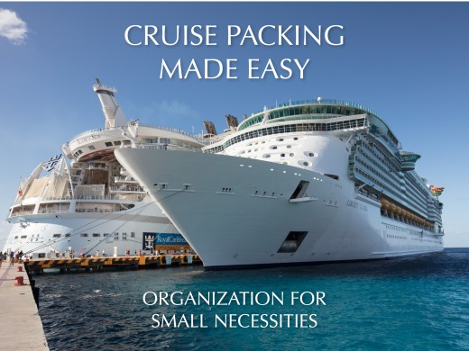 Plastic organizers make packing for your cruise and staying organized while on board a breeze.