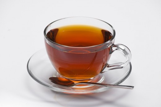 Drink hot tea for a sore throat