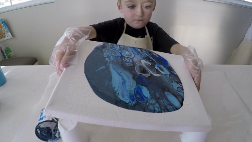 Acrylic pouring made easy enough that kids can do it!