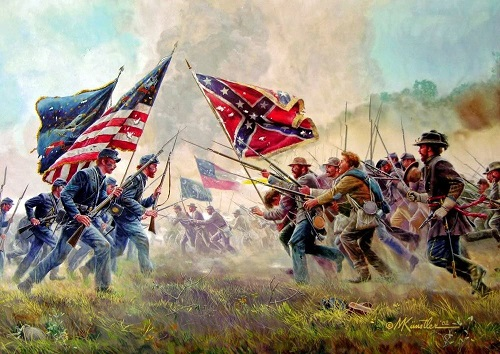Artistic rendition of the American Civil War