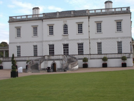 The Queen's House at Greenwich that Charles I finished building for his Queen, Henrietta Maria.